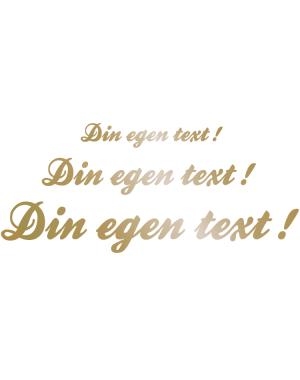 Egen brevlåde text