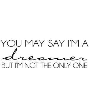 Väggtext Dreamer