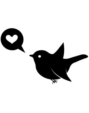 Väggdekor Lovebird