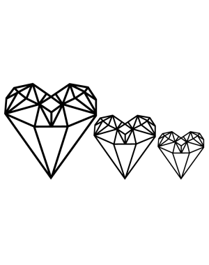 Väggdekor Diamond hearts
