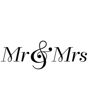 Väggtext Mr & Mrs