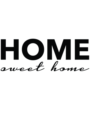 Väggtext Home sweet Home