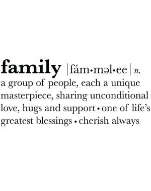 Väggtext Family