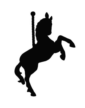 Väggdekor Karusellhäst
