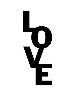 Väggtext LOVE